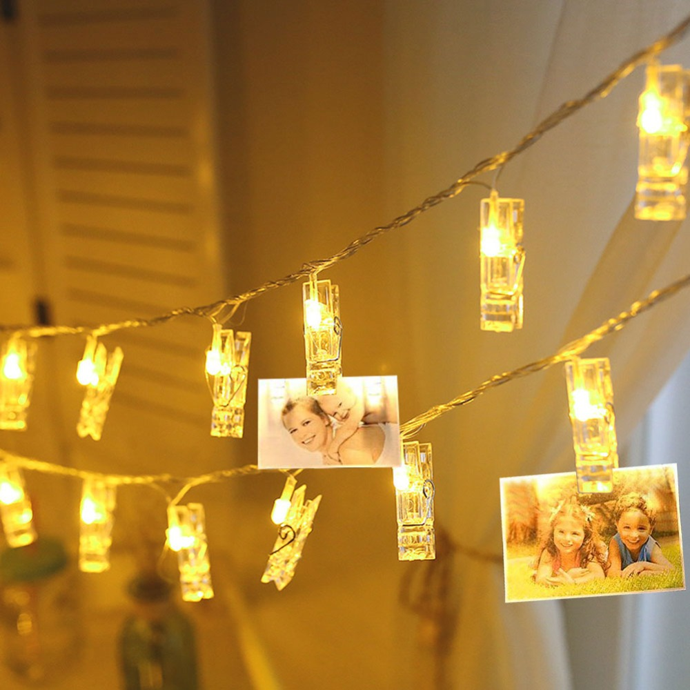 Novelty Photo Light Led Novedades Decoration Garland Holiday Novedad Lamp Card Clip Picture Light Rope Fairy String Gift Kids