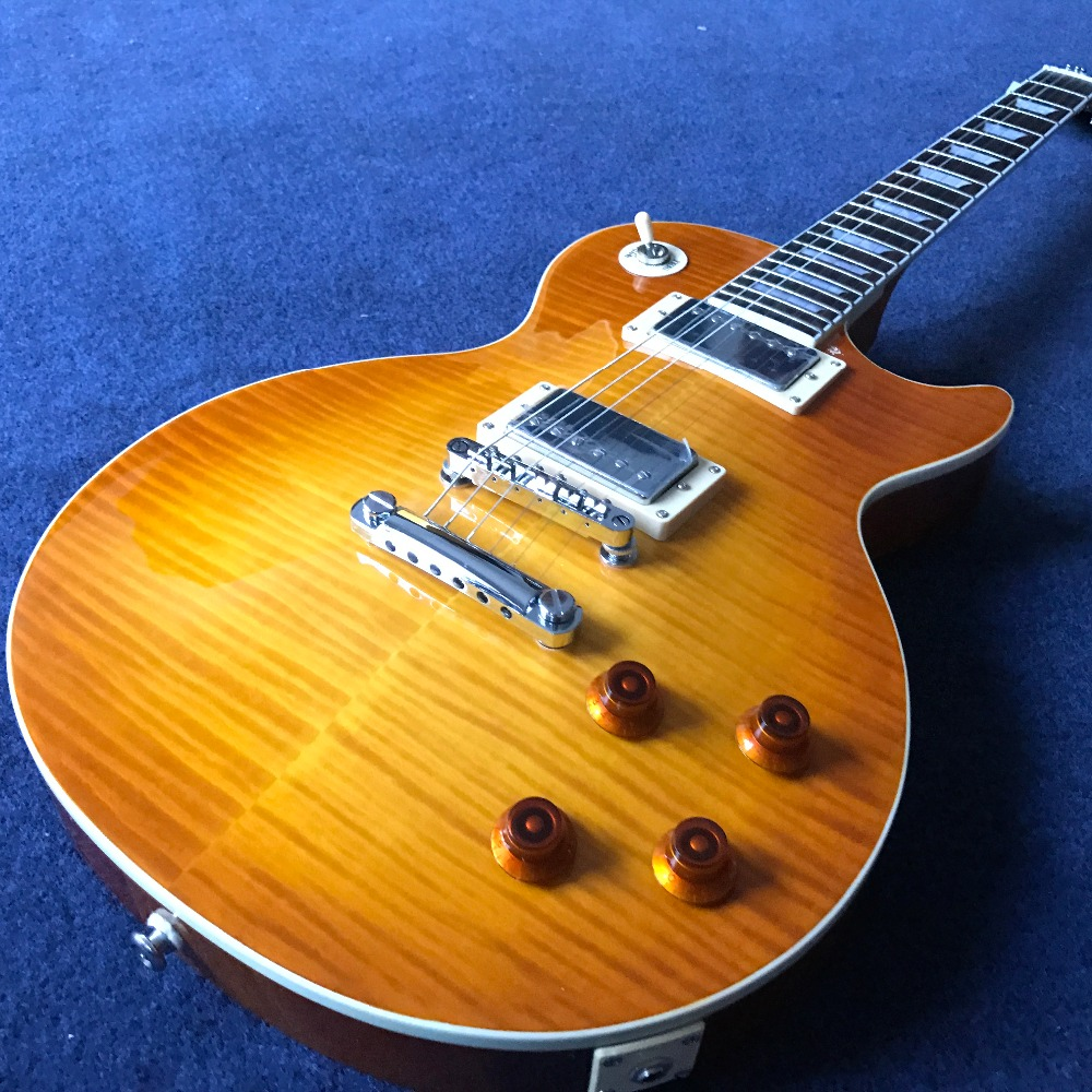 in Stock 1959 R9 honey Burst Chinese LPaul LP Style Standard Electric Guitar with EMS Free Shipping new 1959 r9 les tiger flame paul electric guitar standard lp 59 standard in stock ems fast shipping vintage sunburst terry burst