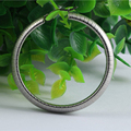 E5153 Stainless Steel Weave Hoop Earrings For Women Round Silver Tone Big Circle Earrings For Women