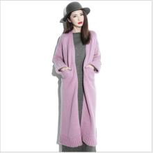 Autumn and winter long thick cashmere sweater sweater cardigan coat coat knee female long selling discount