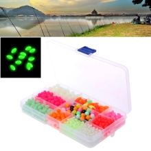 1000pcs/box Luminous Sea Fishing Beads Floating Tackle Multi-Size Accessories