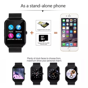 Image 3 - Z60 Bluetooth Smart Watch Phone Men Women Support 2G SIM TF Card Camera for Android Iphone Huawei Xiaomi Smartwatchs PK GT08 X6
