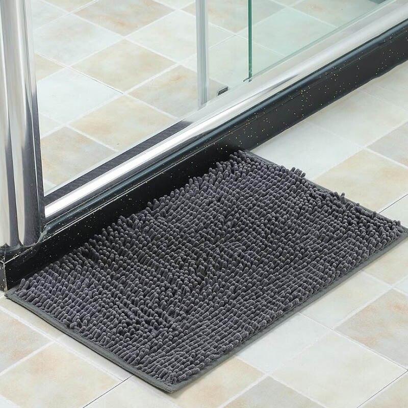 Multiple color Bath mat chenille carpet rugs toilet bathtub Room living room door stairs bathroom foot floor mats 38*58cm