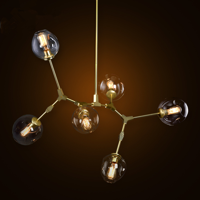 Luxury Glass Bubble Chandelier Lighting Modern Classic Dining Room Light Fixture Pendentes Res