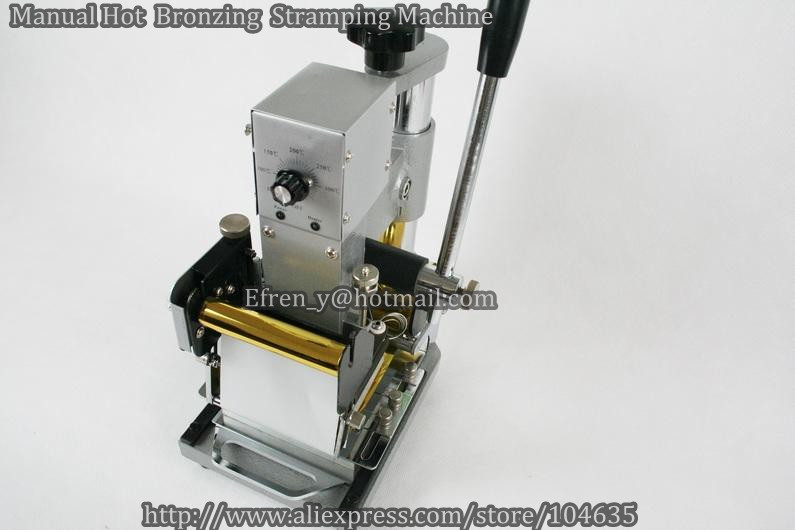 Guaranteed 100 New Manual Hot Foil Stamping Tipper Bronzing font b Machine b font Golden font
