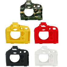 Diseño de textura superior funda de silicona de goma funda de cuerpo Protector de Marco suave para cámara Nikon D800 D800E