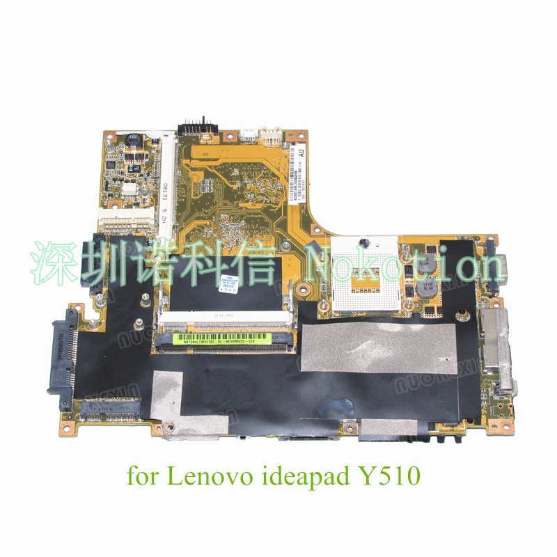 NOKOTION 60-NE3MB5000-C04 for Lenovo ideapad Y510 motherboard yellow color 965PM DDR2 With graphics slot nokotion sps v000198120 for toshiba satellite a500 a505 motherboard intel gm45 ddr2 6050a2323101 mb a01
