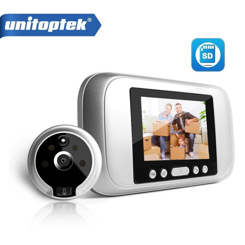 3.2 LCD Digital Peephole Viewer PIR Door Eye Doorbell Video Intercom HD 720P 960P IR Camera Night Vision PIR Motion Detection