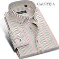 CAIZIYIJIA 2017 New Designer Striped Shirt Men High Quality Long Sleeve Camisa Masculina Button Down Casual Shirt Brand Clothing