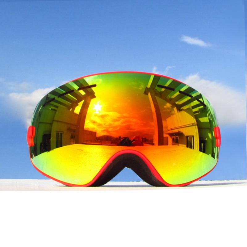 94a71e54e6ea Kids Ski Goggles Helmet Compatible Snow Goggles for Boys   Girls ...