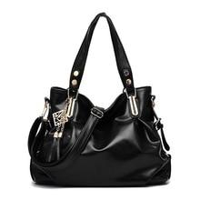 купить Women PU Leather Handbags Casual Brown Tote Bags Female Brand Designer Crossbody Messenger Bag TOP-handle Bag With Tassel по цене 1301.32 рублей