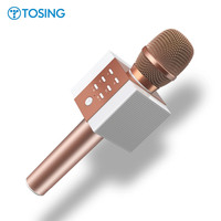 Original Brand TOSING Wireless Bluetooth Magic Karaoke Microphone With 2 Speaker MIC Black Carrying Case Active noise reduction