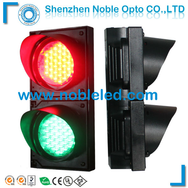 100mm PC Cover Mini LED Traffic Signal Light For Parking