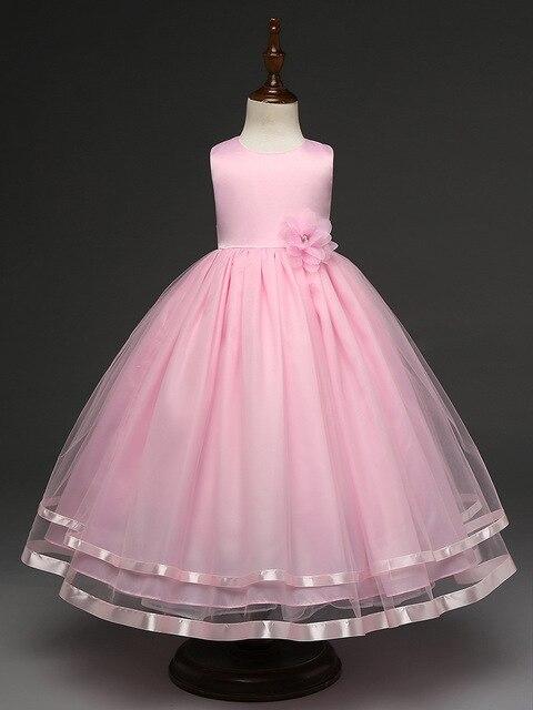 Luckyqiang Mode sederhana pernikahan bunga gadis gaun biru anak gaun pesta  ulang tahun bola gowns untuk f109e9caac