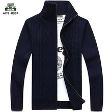 free shipping AFS JEEP brand men spring and autumn outwear sweaters zipper style cardigans men plus size M-XXXL 70