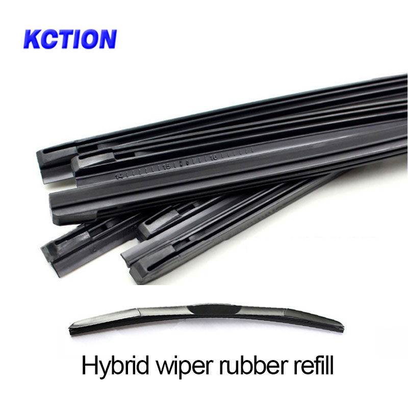 "1 Pcs Kction Wiper Rubber Refill Car Windshield Wiper Blade Insert Hybrid Rubber Strip 8mm 14"" 16""17"" 18""19"" 20"" 21"" 22"" 24"" 26""(China)"