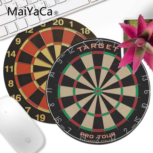 6bade4ad794 MaiYaCa Darts target Printing Pattern Unique Desktop Pad Keyboards Mat  Round Desk Mat Gamer Gaming mouse