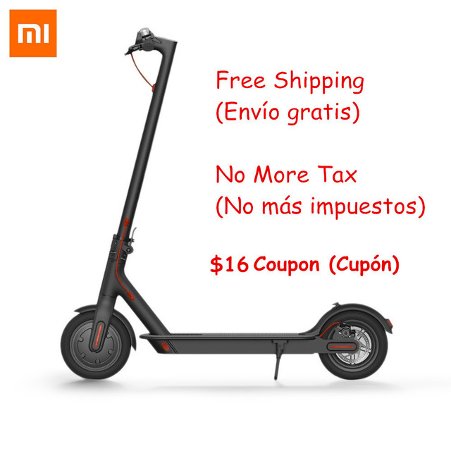 100% Original Xiaomi M365 Foldable Smart Electric Scooters Lightweight Hoverboard 30km Longboard Skateboard Electric Scooter