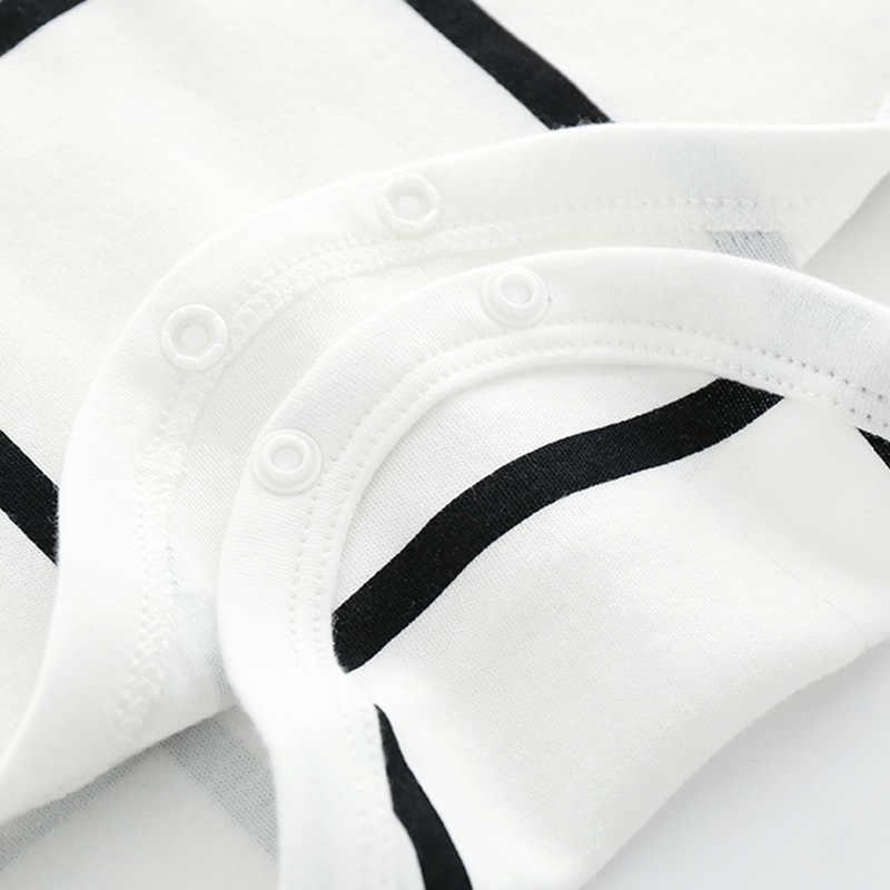 جديد طفل رضيع قميص قطني بكم طويل ارتداءها دارى الصبي الأبيض 1 قطعة Dinosau خط الجسم عموما الرضع لطيف الملابس ولد 3m 6m هدية