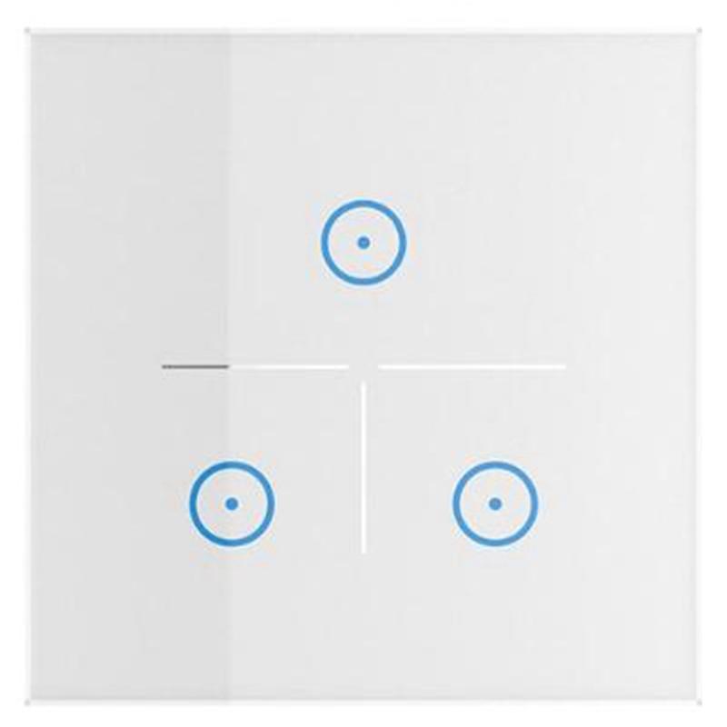 Wifi Wall Switch Smart Life App Remote Control Eu Standard Type 86 Work With Alexa Echo And Google Home Mini Smart Home(Eu Plu