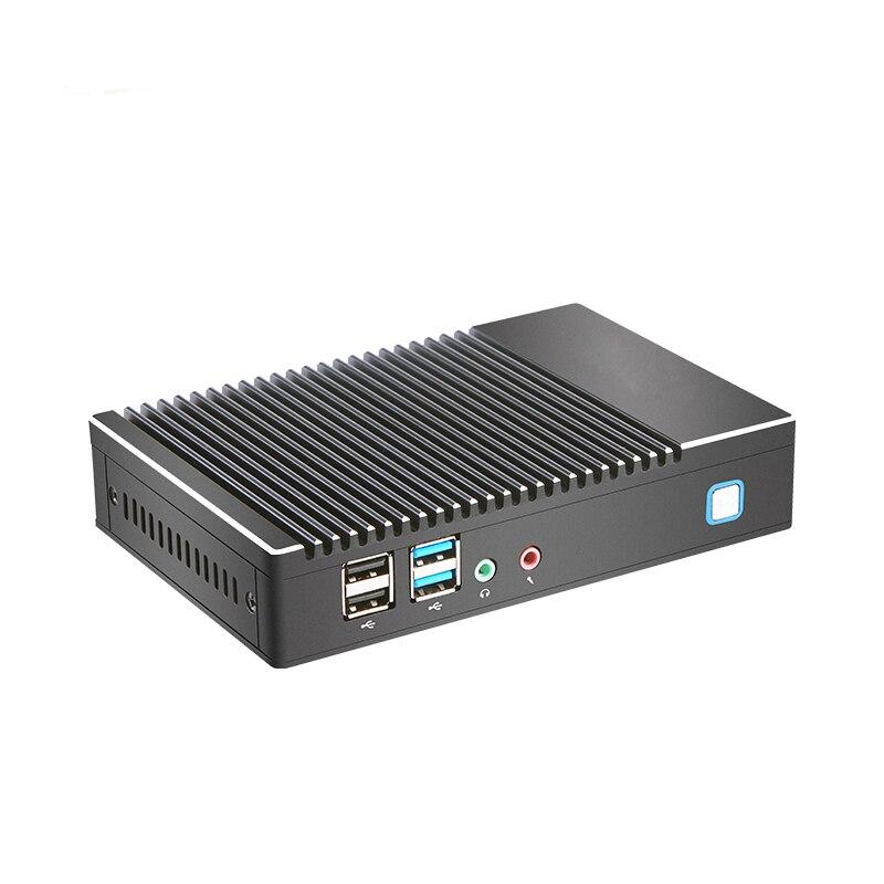 Mini PC Fabriek groothandel Fanless AMD A6 1450 Quad core Windows Win10 Linux Gaming Computer WIFI HDMI HTPC DDR3L desktop Minipc - 4