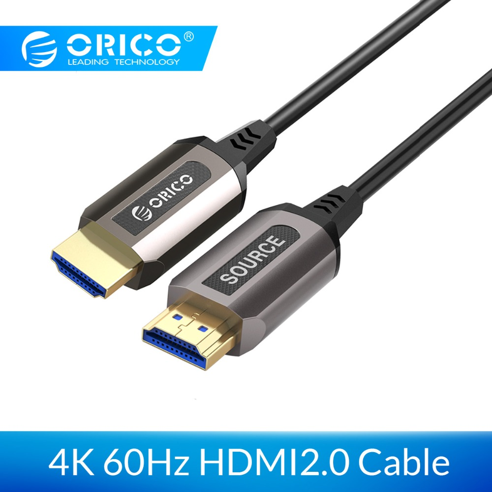ORICO HDMI2.0 Cable Male to Male HDMI2.0 Cable 4K 60HZ 18Gbps Optical Fiber HDMI <font><b>Connector</b></font> for TV PC Projector Laptop Computer image