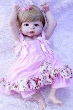 Boneca Reborn 22inch full Silicone Vinyl Dolls 55cm Soft Silicone Reborn Baby Doll Newborn Lifelike Bebe Reborn Dolls kawaii girl doll bebe reborn 22inch soft silicone reborn dolls 55cm lovely baby doll toys realistic lifelike newborn brinquedos