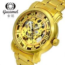 Оригинальной аутентичной высокой моды мужские часы бизнес по продаже 40 мм полые автоматические механические часы полосы диаметр диска золото