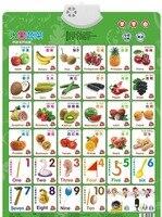 Обучайте фрукты овощи номер карты книга ребенок звук настенная диаграмма раннего образования электронные игрушки для детей