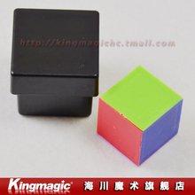 5 шт./партия, цветная Волшебная коробка с изображением зрения и ментализмом, цветные кубические фокусы, магические реквизиты