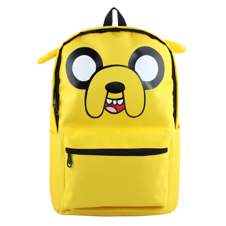 Adventure Time Backpack Canvas Bag Finn and Jake School Bags for Boys Girls Casual Schoolbag Knapsack Laptop Bags adventure time finn and jake school backpack for children teenagers men women bag mochila laptop knapsack bags
