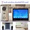 Digital Wireless Video Intercom Doorbell Camera And DVR System 7 Inches 2 4 G Wireless Camera