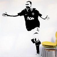 Free Shipping Wholesale Wall stickers Home Decor PVC Vinyl Removable Art Mural Football Z-51