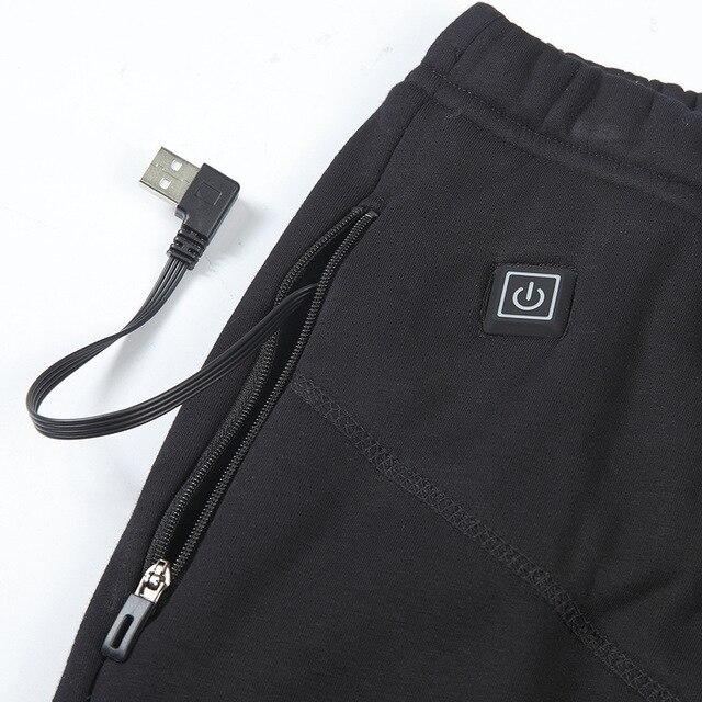 Top New Men Women Hiking Heating Warm Pants Camping Climbing Fishing Heated Pants Outdoor Wear-resisting Elastic Trousers 5