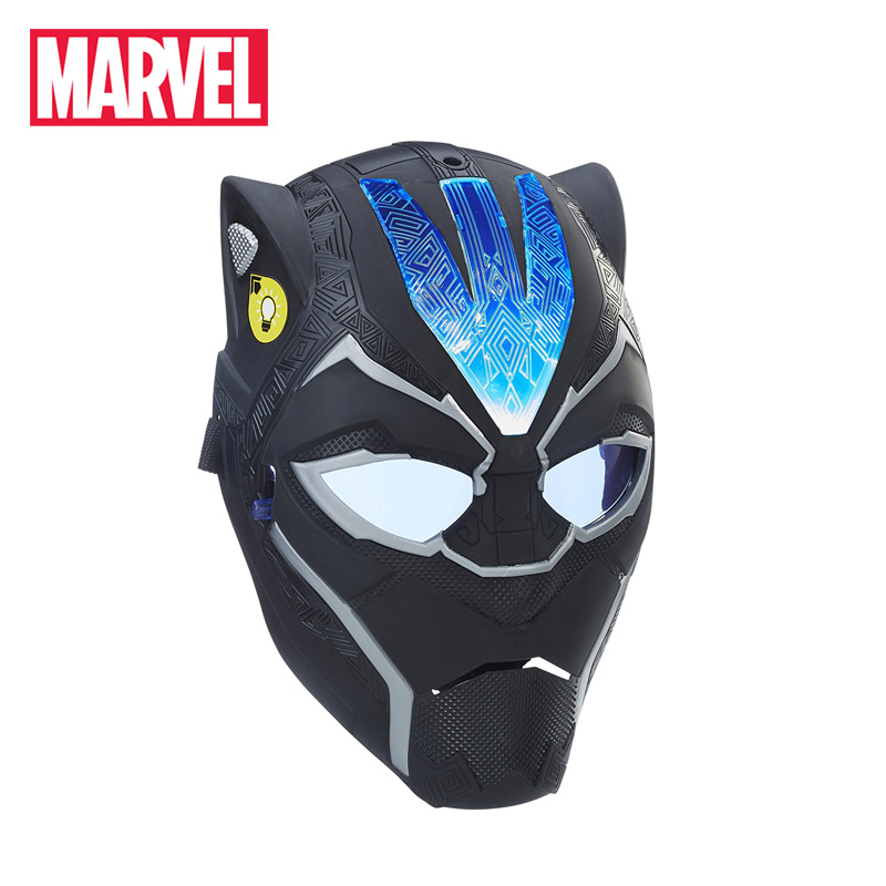 Hasbro Marvel Toys Black Panther Vibranium Power FX Mask Light Adjustable Superhero Full Face Masks for Kids Adult Cosplay Toy 2pcs lot harry potter series death eater mask halloween horror malfoy lucius resin masks toy private party cosplay toys gift