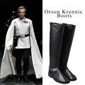 Orson krennic rogue una historia a star wars cosplay zapatos cosplay botas unisex botas altas calientes del partido de halloween props accesorios