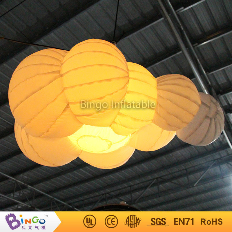 Cloud Hanging Lamp 1M Length Inflatable Hanging Lighting Inflatable Cloud Shape Party Lights with LED Light Lighting toys духовой шкаф bosch hbn 211b6r brown