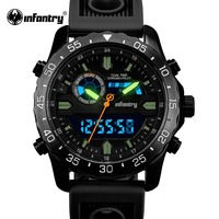 INFANTRY Luxury Brand Men Sport Watches Mens Quartz LED Tactical Analog Digital Clock Man Military Wrist