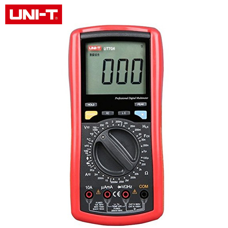 2017 High Quality UNI-T UT70A LCD Digital Multimeter Volt Amp Ohm Temp Capacitance Inductance Free Shipping 1pcs uni t ut70a lcd digital multimeter volt amp ohm temp capacitance inductance wholesale register shipping