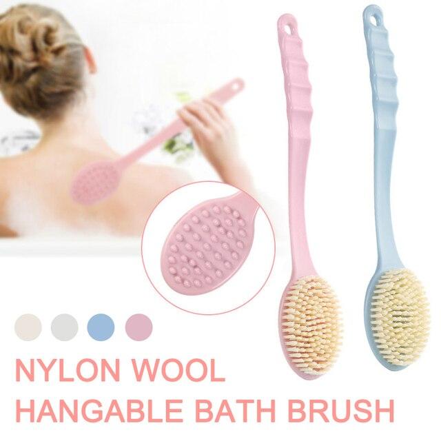 Body Back Scrubber Body Scrubber Exfoliating Long Handled Bath Shower Brush for Men Women anti-cellulite brush Massage 2