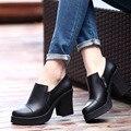Sexy Zapatos de Tacones Altos Zapatos de Mujer de Cuero Genuino de la Alta Calidad Punta estrecha Mujeres Bombas Plataforma Chaussure Femme zapatos mujer
