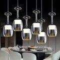 3Wx6 LED Cup Copo de Vinho Moderno Pingente LEVOU Lâmpada de Luz Com 6 Luzes para Sala De Jantar Bar Saloon, Lamparas Luminária