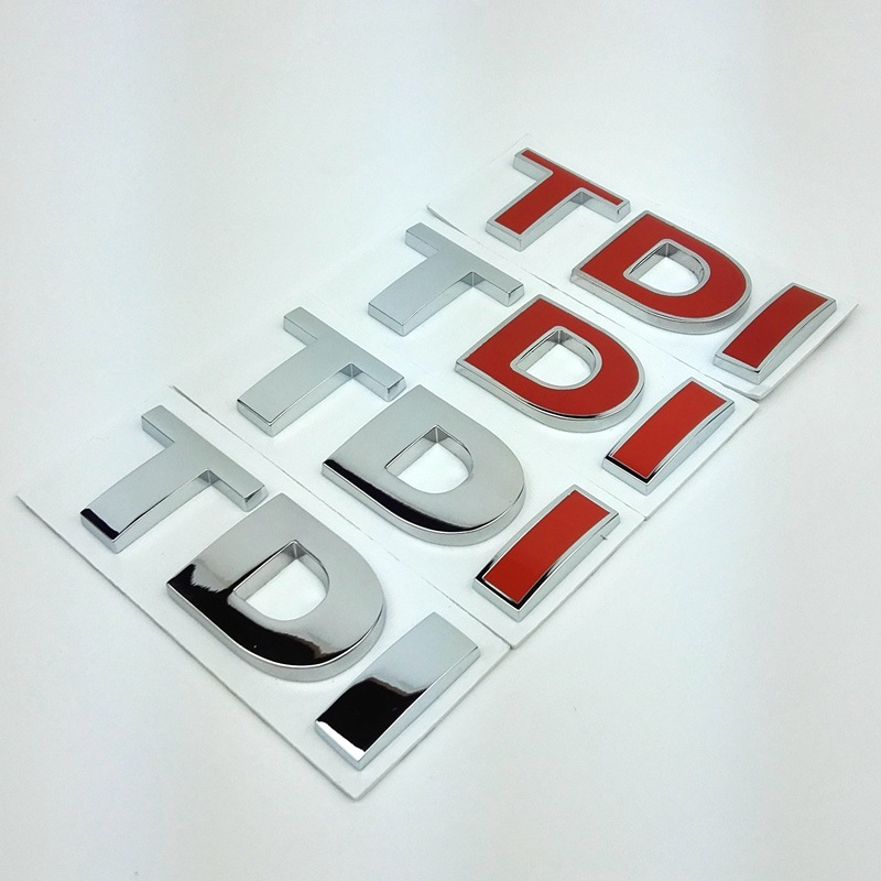 TDI Badge Emblem Decal <font><b>Stickers</b></font> Logo for Volkswagen <font><b>VW</b></font> Polo Golf Jetta Passat b5 b6 GTI <font><b>Touran</b></font> Bora Car styling car accessories image