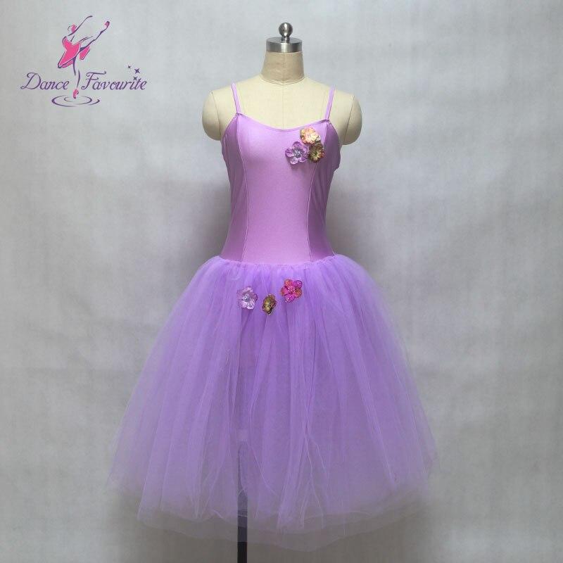 Dance Favourite Lilac Long Romantic Camisole Ballet Tutu, Lady Dance Costume Ballerina Tutu girl stage performance ballet tutu