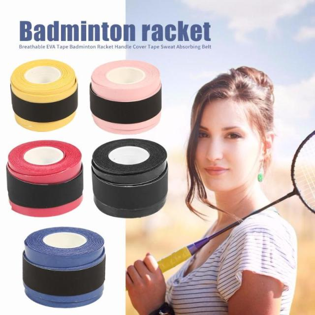 Badminton Racket Tape Anti-skid Hand Glue Sweat Absorbing Belt Tennis Overgrip Grip Padel Keel Hand Sticky Thicken Sweat Belt