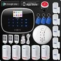 Corina Wireless Wired GSM Voice Inbreker Thuis Huis Beveiliging Alarm App Controle TFT Touch Panel Draadloze Rookmelder Pir Sensor