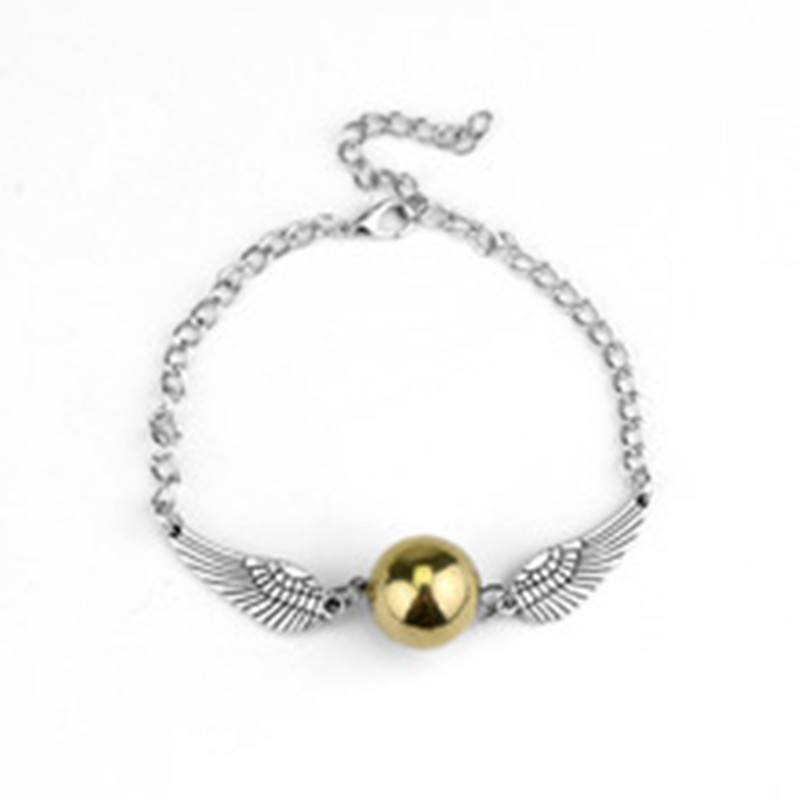 2017 New Hot Fashion Fine Movies Jewelry Magic Academy Deathly Hallows Golden Snitch Bracelets & Bangles For Women And Men