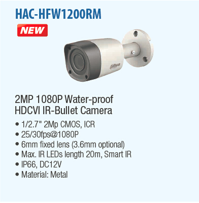 Free Shipping DAHUA Security Camera 2MP 1080P IR Waterproof HDCVI Bullet Camera with Metal Housing with Fixed Lens HAC-HFW1200RM свитшот blend blend bl203emvde66