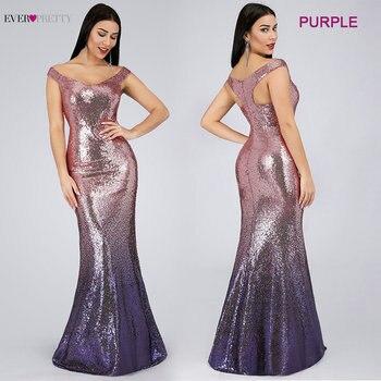Evening Dress Long Sparkle 2020 New V-Neck Women Elegant EB29998 Sequin Mermaid Maxi Evening Party Gown Dress abendkleider 2020 3