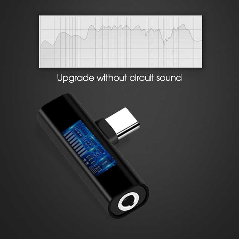 Usb type C до 3,5 мм разъем для наушников адаптер для Xiaomi mi 8 Lite mi 8 Aux аудионаушники с кабелем зарядное устройство зарядный USB-C конвертер